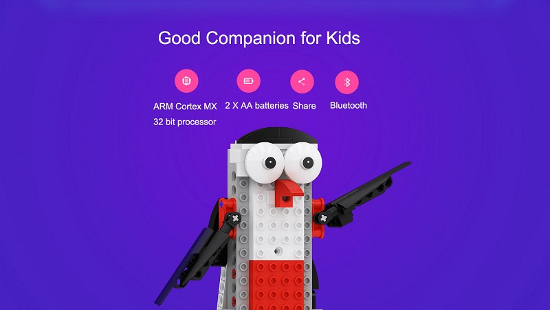 XiaoMi MITU STEAM Robot Smart Building Block Kit APP Control bluetooth Robot