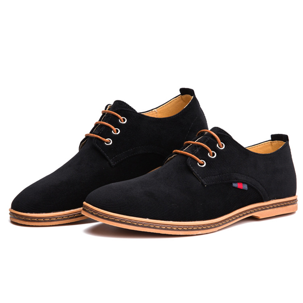 US Size 6.5-12 Men Casual Soft Comfortable Flat Oxford Suede Lace Up Shoes