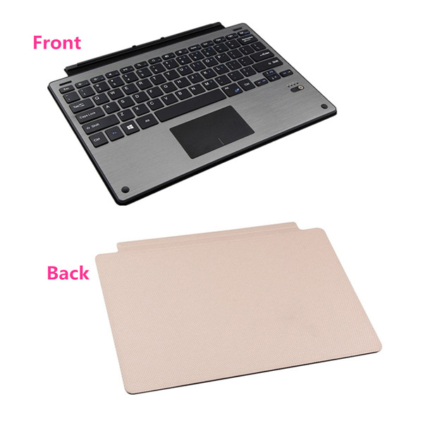 Aluminum Metal bluetooth Keyboard+Leather Case For Microsoft Surface Pro 3/Pro 4
