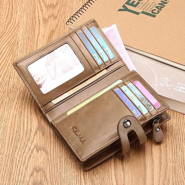 Men's Wallet Genuine Leather Credit Card Holder
