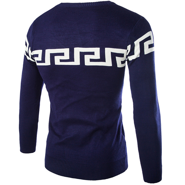 Mens Casual O-neck Collar Sweater