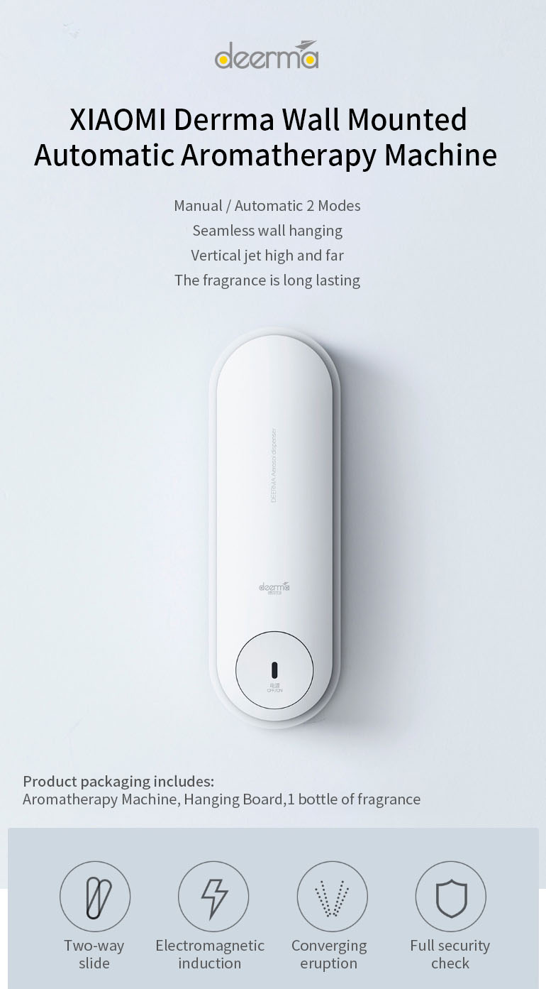[Wall Mounted] XIAOMI Deerma Automatic Aromatherapy Humidifier Air Purifier Seamless Aroma Diffuser Automatic Fragrance Machine