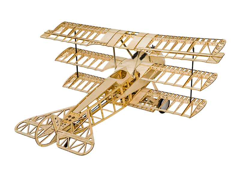 Fokker Dr.I 1540mm Wingspan Balsa Wood Triplane Warbird RC Airplane