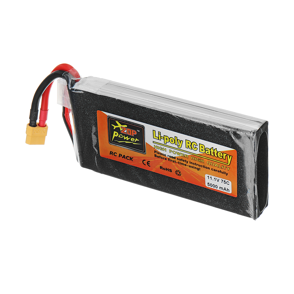 ZOP Power 11.1V 5000mAh 75C 3S Lipo Battery XT60 Plug for RC Model - Photo: 3