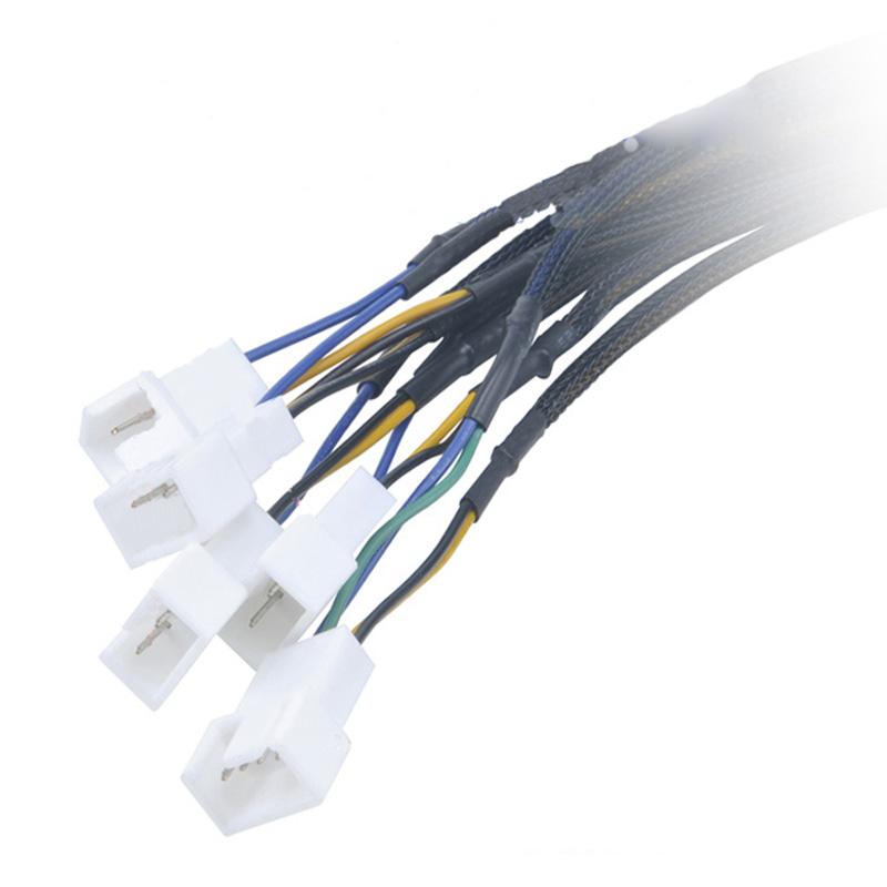 Akasa AK-CBFA07-45 FLEXA FP5S Fan Splitter Cable for 5 PWM Fans Hub