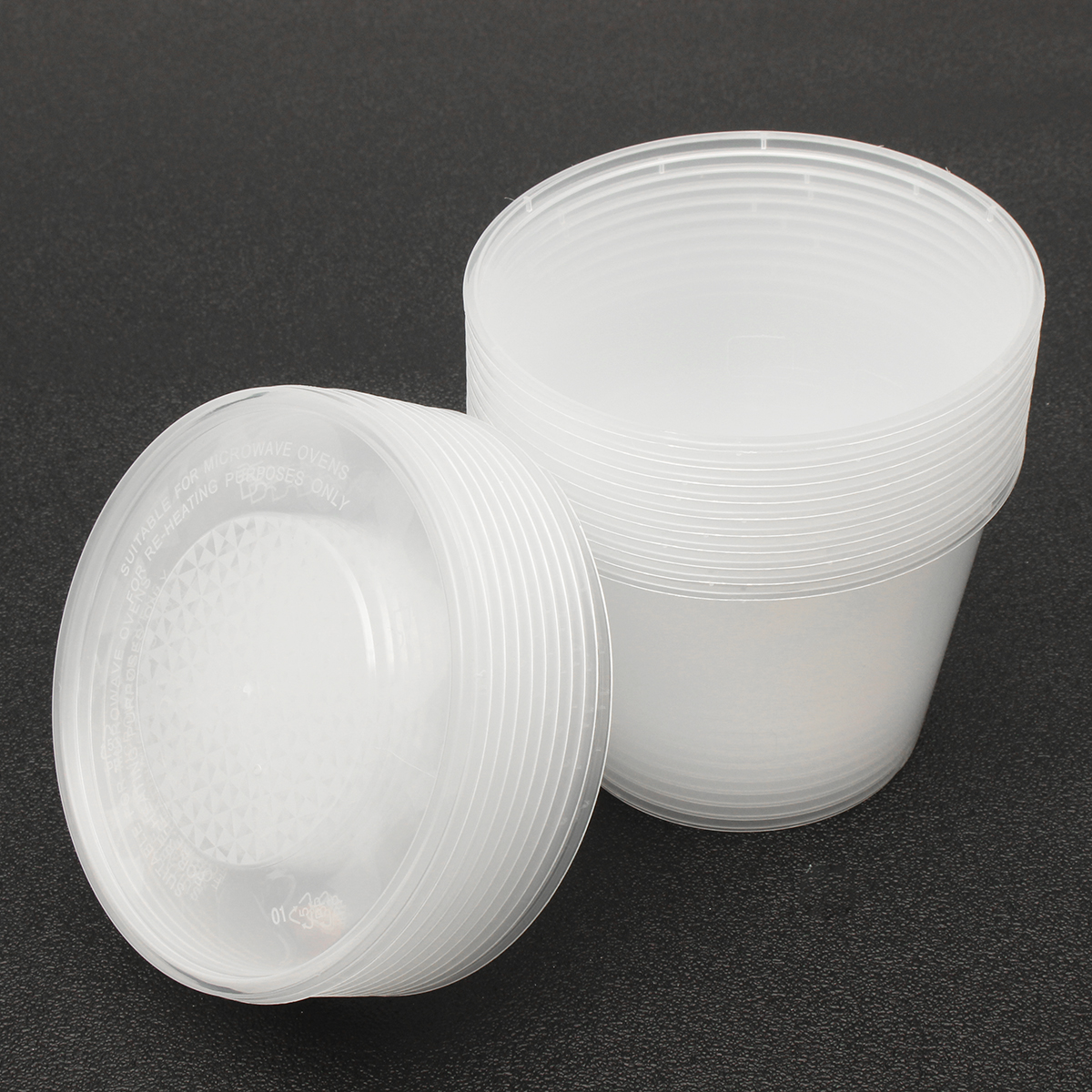 10Pcs 16oz Transparent Plastic Disposable Cups Boxes Soup Food Restaurant Storage Container Cup