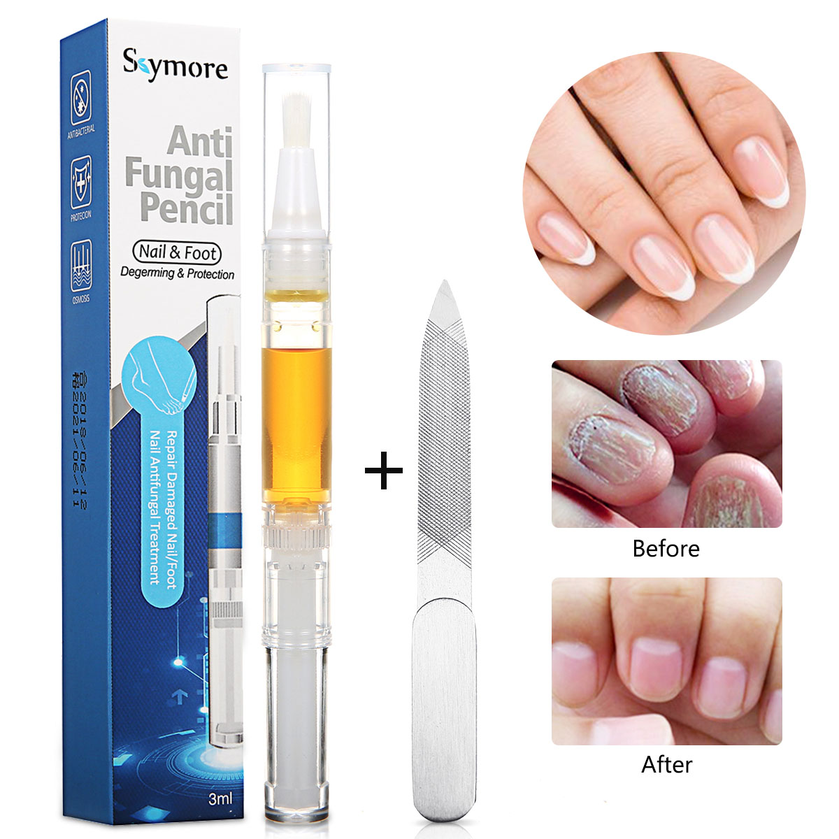 Skymore Toenail Fungus Treatment Nail Gel with Nail File