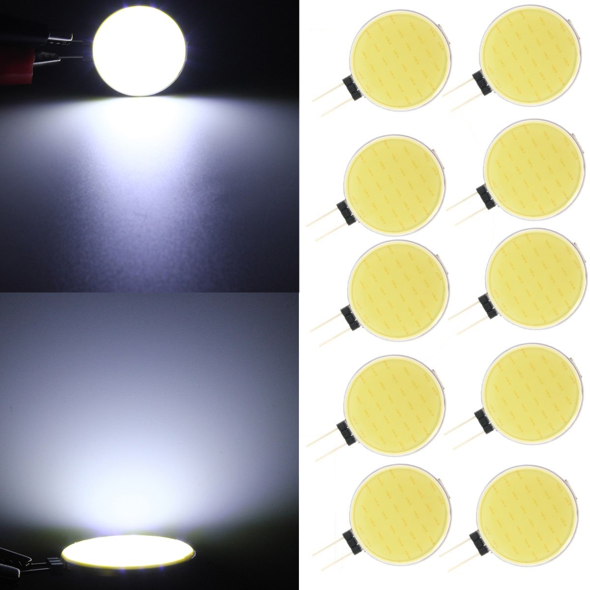 10X DC12V G4 4.5W Pure White 30 LED COB Light Bulb Lamp for Home Decoration
