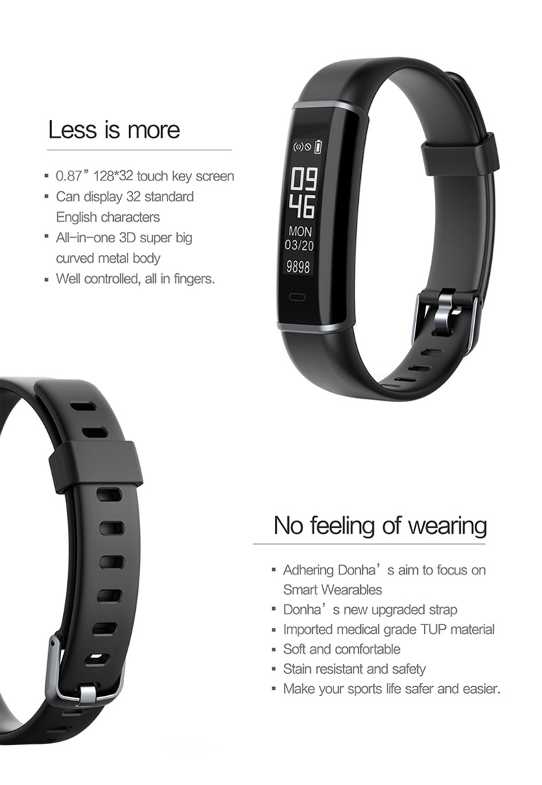 ID130 HR Smart Bracelet Activity Tracker Heart Rate Monitor