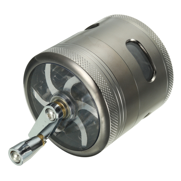 4 Layers Zinc Alloy Grinder Hand Crank Mill Crusher for