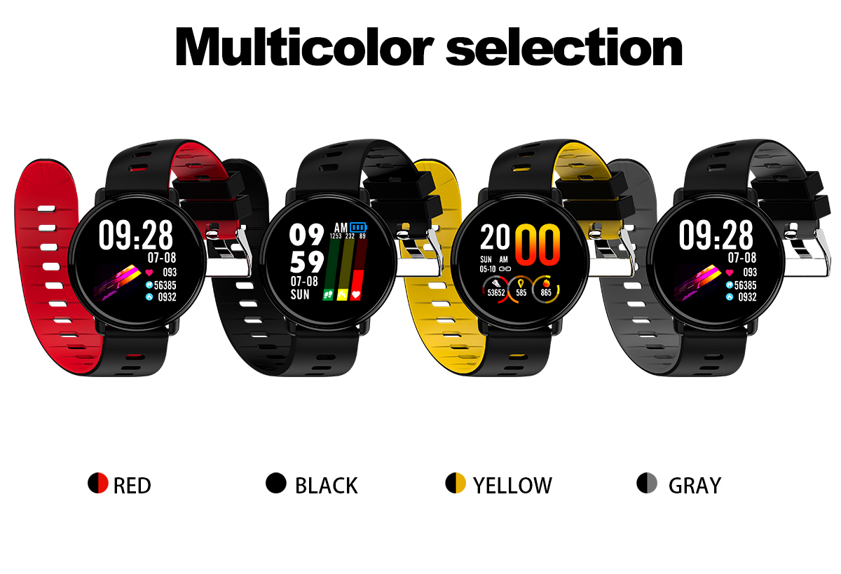 Bakeey K1 IPS Full Touch Color Screen Wristband Multi Exercise Modes Heart Rate Monitor IP68 Smart Watch