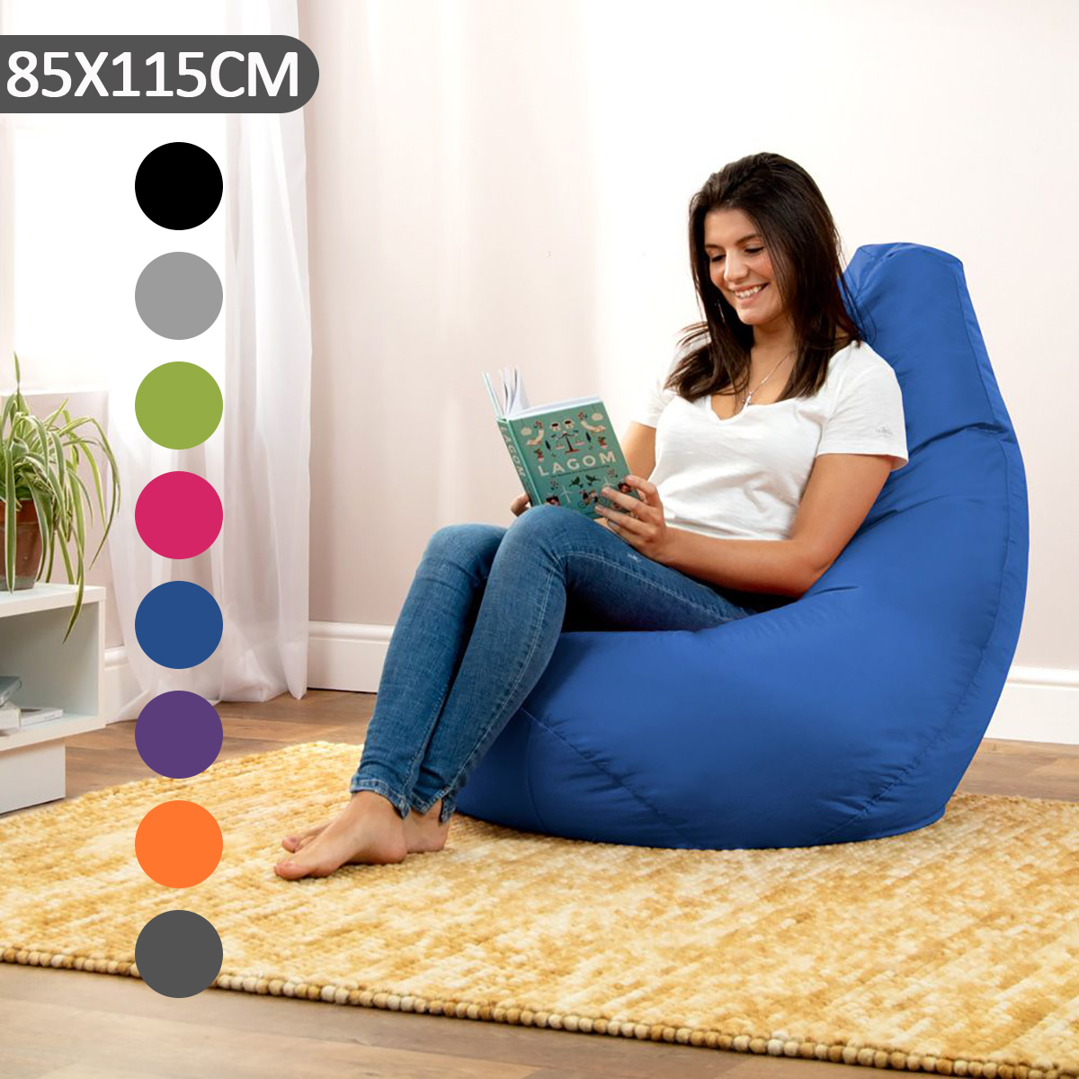 115x85cm Outdoor Portable Bean Bag Gamer Cover Adult Kids Children Seat Chair Dust Protector