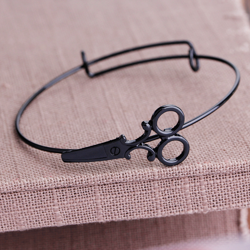 Fashion Adjustabl Hairdresser Shears Scissors Bangle