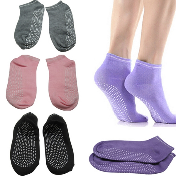 Pilates Yoga Anti Not Slip Grip Cotton Socks Massage Exercise Sport Tool