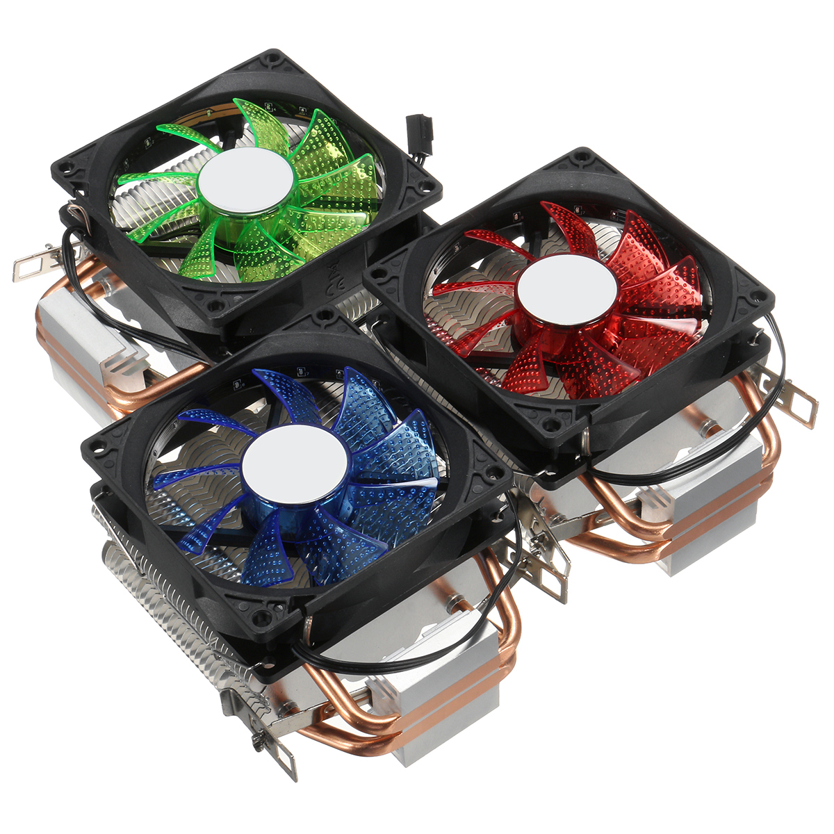 9cm LED 3 Pin CPU Cooling Fan Cooler Heat Sink For Intel LAG/1155/1156 AMD 754/AM2/AM2+AM3/FM1