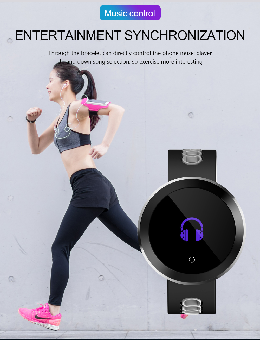 Bakeey Q8 Pro IP68 Blood Prssure Heart Rate Monitor Fitness Tracker Sport bluetooth Smart Wristband