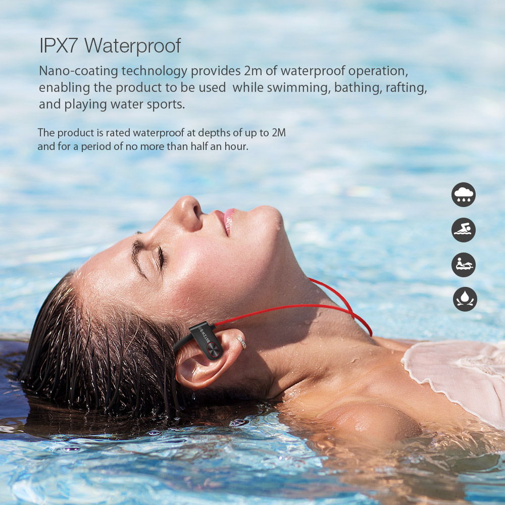 Blitzwolf® BW-BTS2 Sport Earhook Wireless bluetooth Earphone Dynamic Driver IPX7 Waterproof Headset