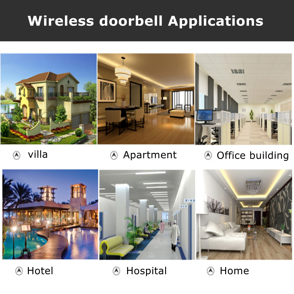36 Tune Chimes Songs Waterproof Led Wireless Doorbell Remote Control 1 2 Chime Wiring Diagram Free Download Detail Pictures
