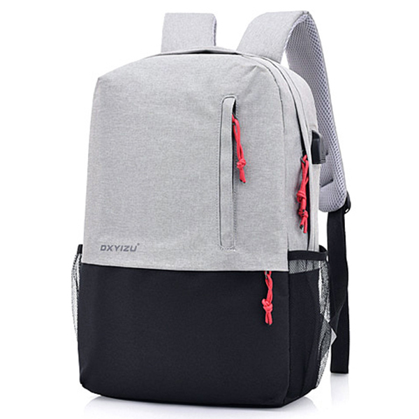 Polyester USB Charging 16 inches Laptop Bag Backpack