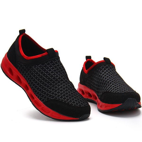Men Casual Outdoor Breathable Mesh Sport Shoes Soft Sole Walking Athletic Shoes
