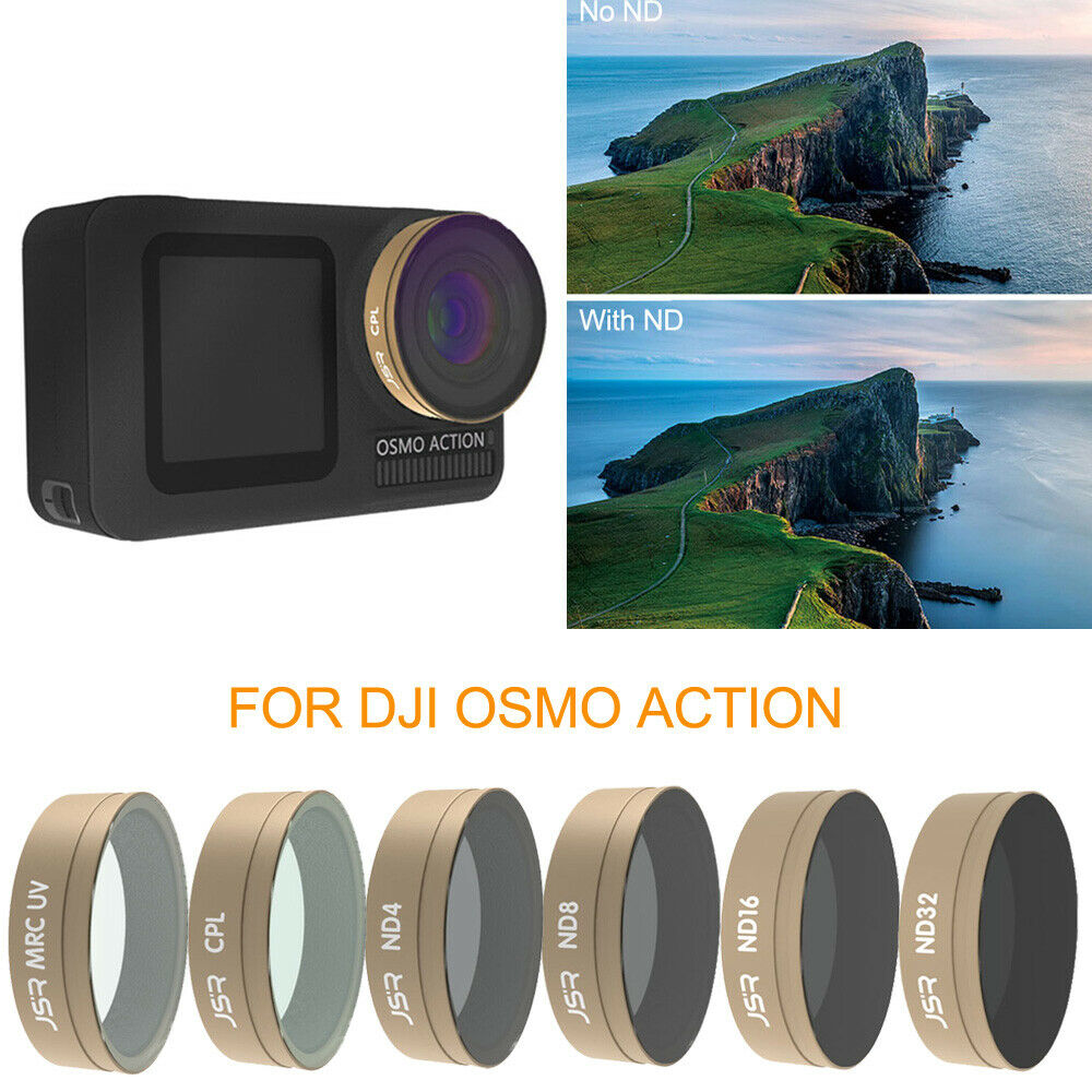 Optical Glass Lens Filter UV CPL ND STAR Kit for DJI OSMO ACTION Sports Camera - Photo: 2