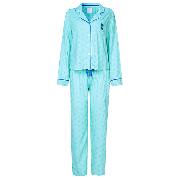 Women Plus Size Small Lape Thin Long Sleeves Cotton Soft Pajamas Sets Sleepwear Loungewear