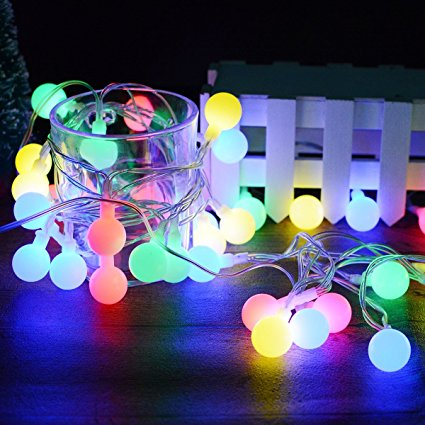ARILUX® Battery Powered 6M 40LEDs Globe Ball Fairy String Lights for Christmas Patio