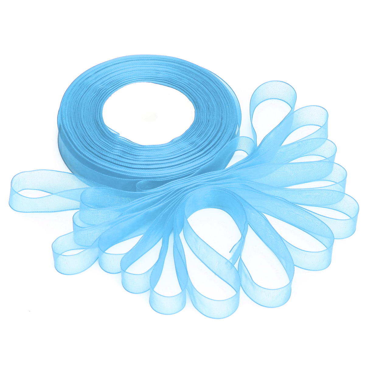 50 Yard 15mm Transparent Organza Ribbon Wedding Party DIY Decoration