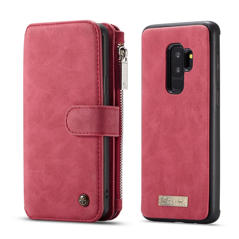 Caseme Magnetic Detachable Zipper Wallet Card Slot Phone Case For Samsung Galaxy S9 Plus