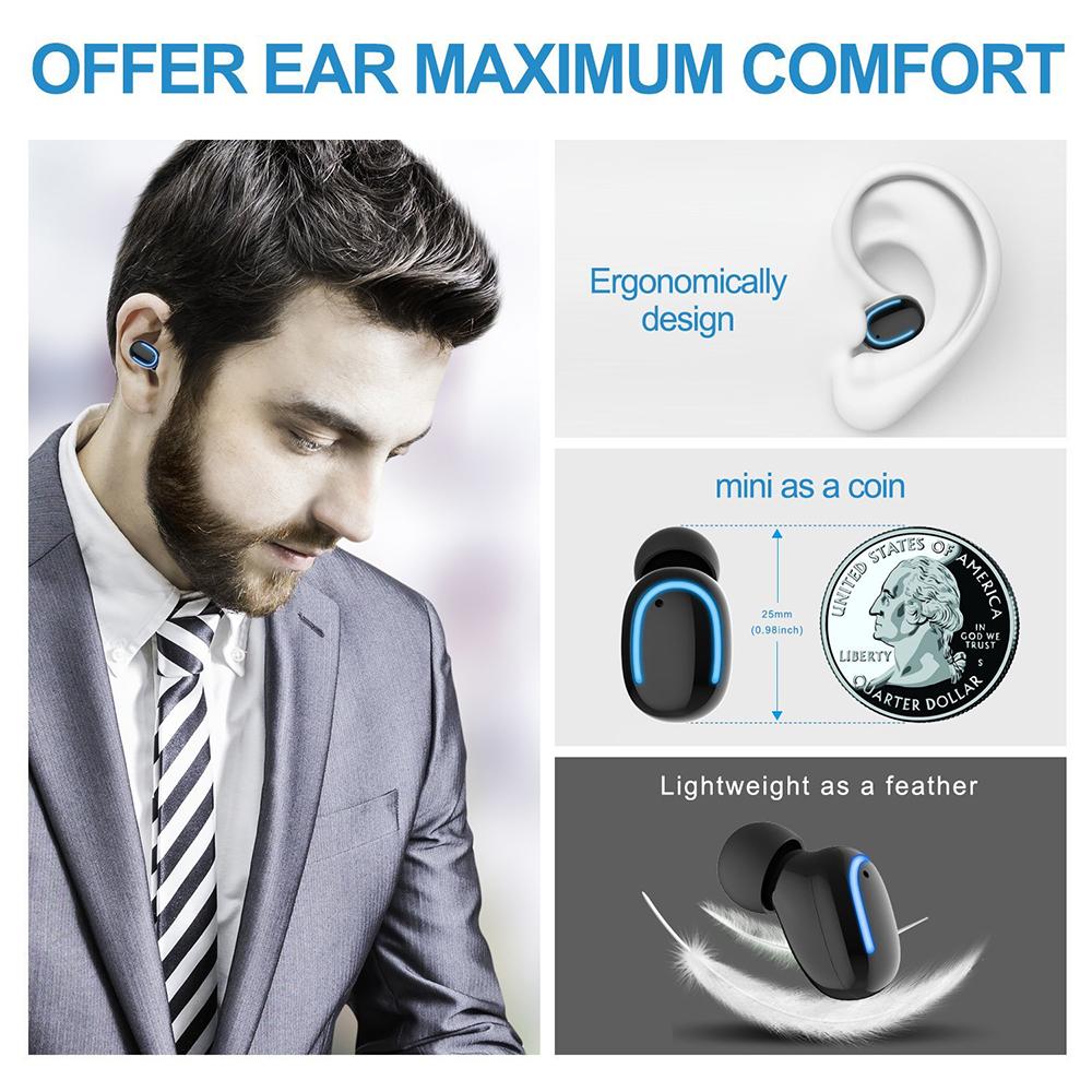 HBQ-Q13S Mini Wireless Bluetooth Earphone Single Portable Bass Headset Earphone With USB Charger