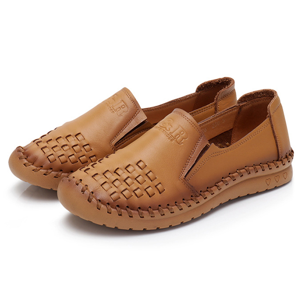 Leather Loafers Soft Casual Shoes