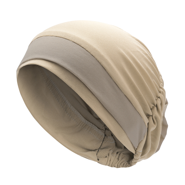Women Polyester Breathable Turban Hat Muslim Pile Heap Cap