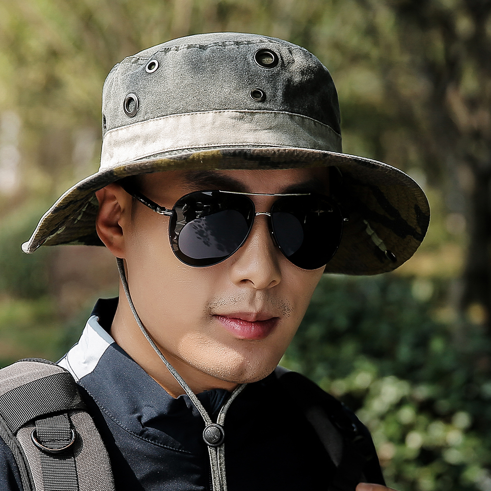 Wide Large Brim Bucket Hat Outdoor UV Protection Fishing Cap