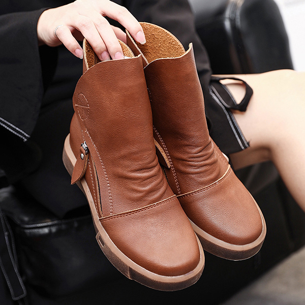 Flats Lace Up Ankle Boots