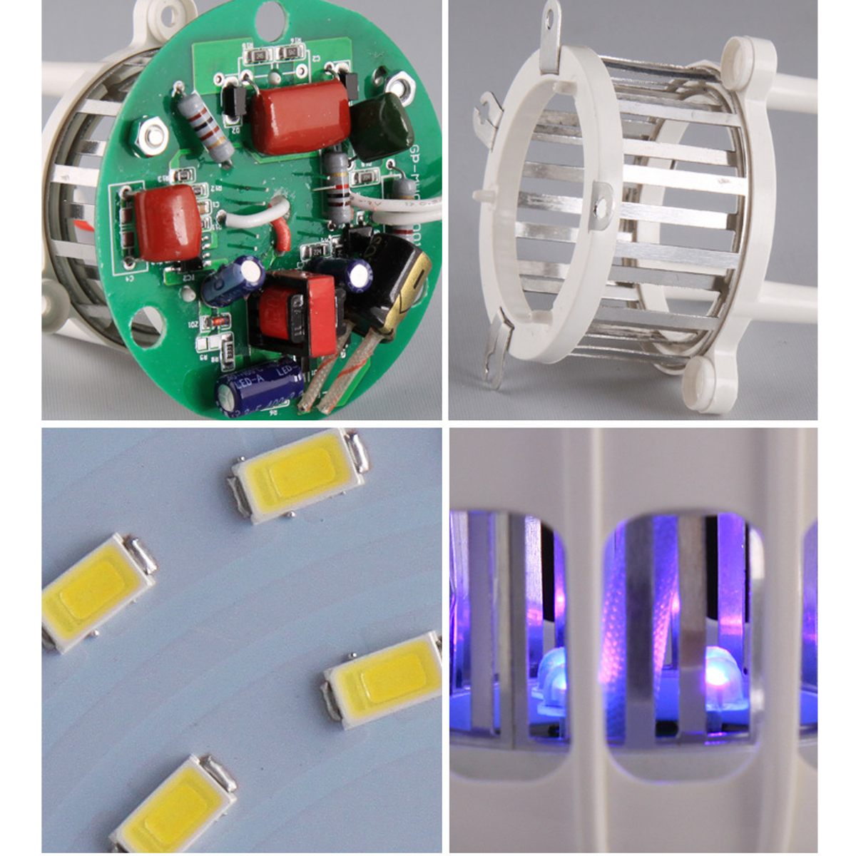 E27 20W LED Bug Zappers Light Bulb Mosquito Flying Insects Moths Killer AC220V