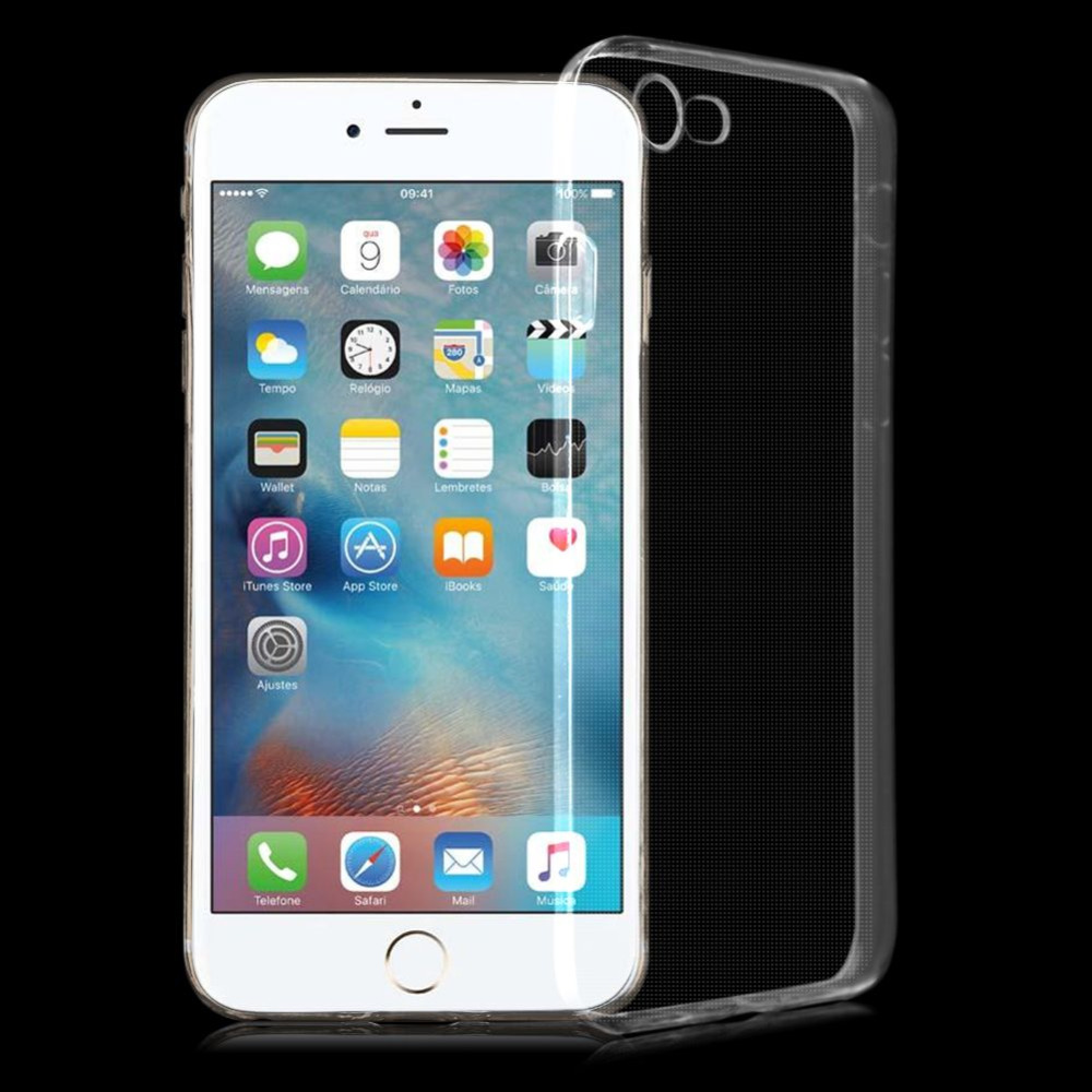 Bakeey™ 4D Curved Edge Tempered Glass Film With Transparent TPU Case for iPhone 8