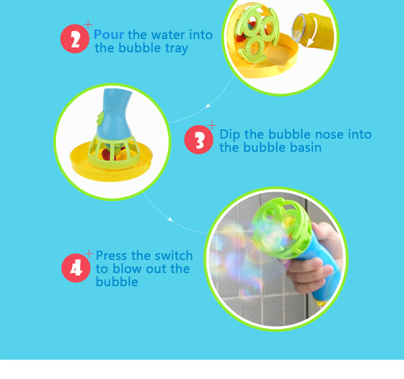 Electric Bubble Machine Fan Blowing Bubble Gun Kids Playing Game Toy