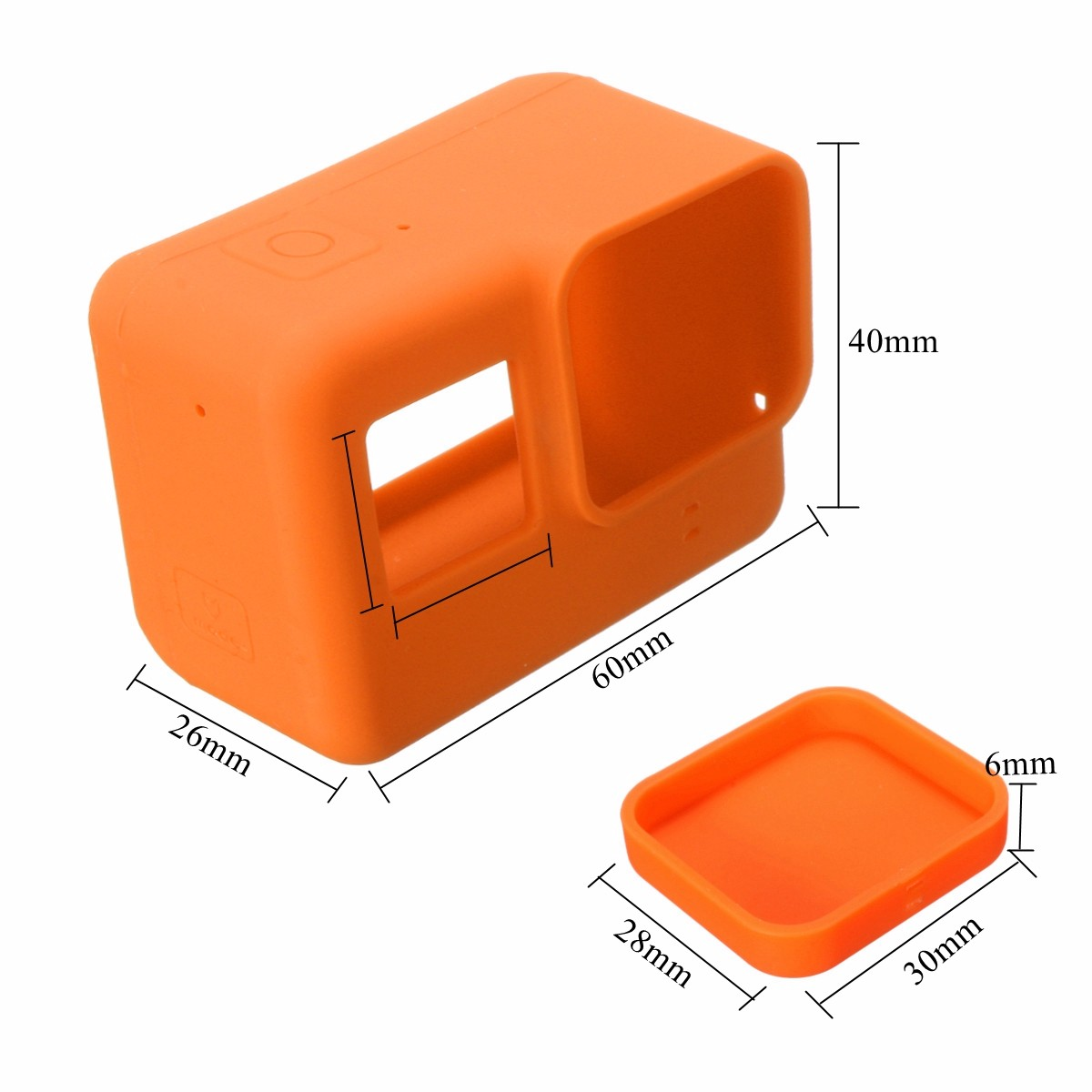 Soft Silicone Housing Case Protective Cover And Lens Cap For GoPro Hero 5 Camera