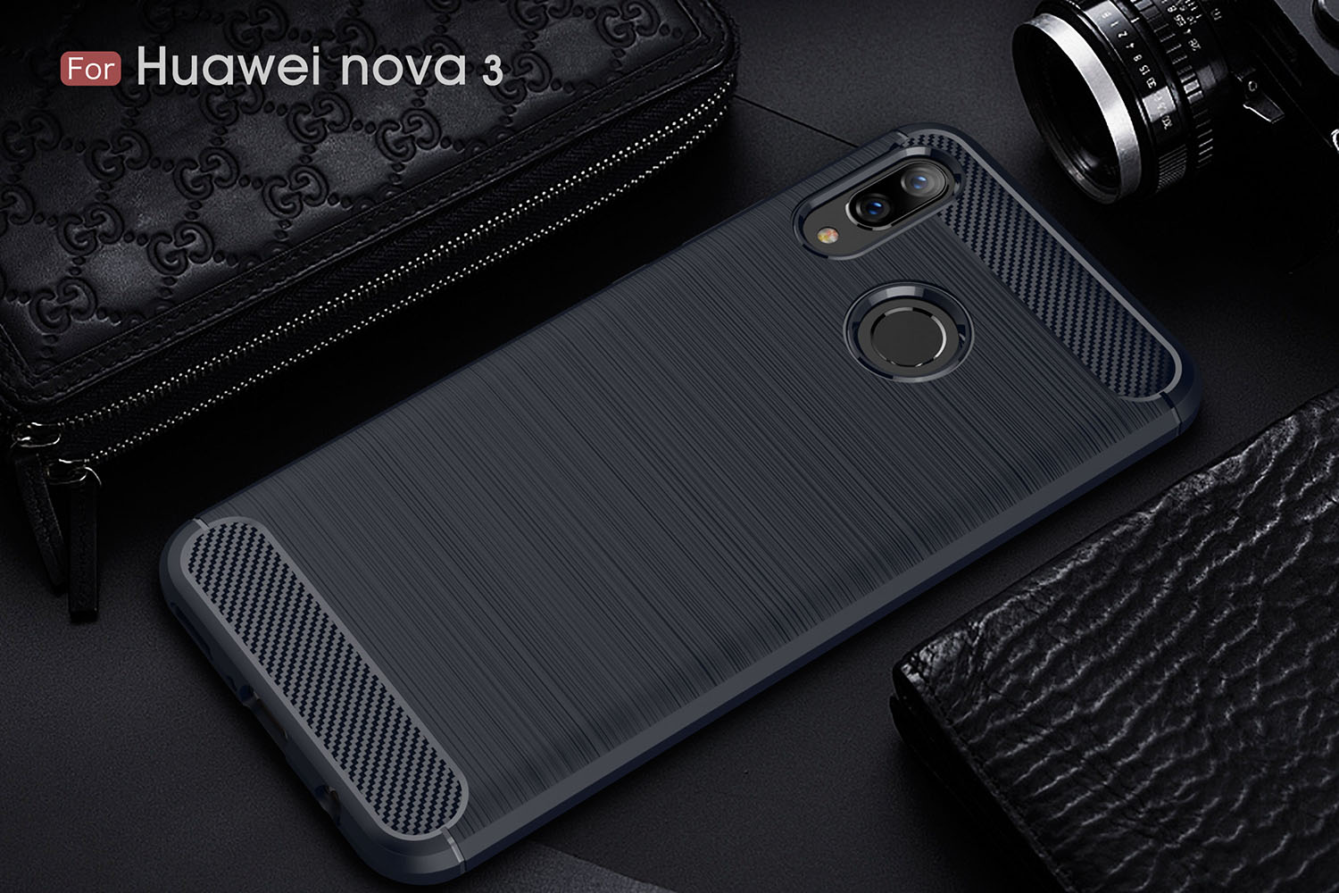 Bakeey Shockproof Carbon Fiber Drawing Soft TPU Back Cover Protective Case For Huawei Honor Note 10