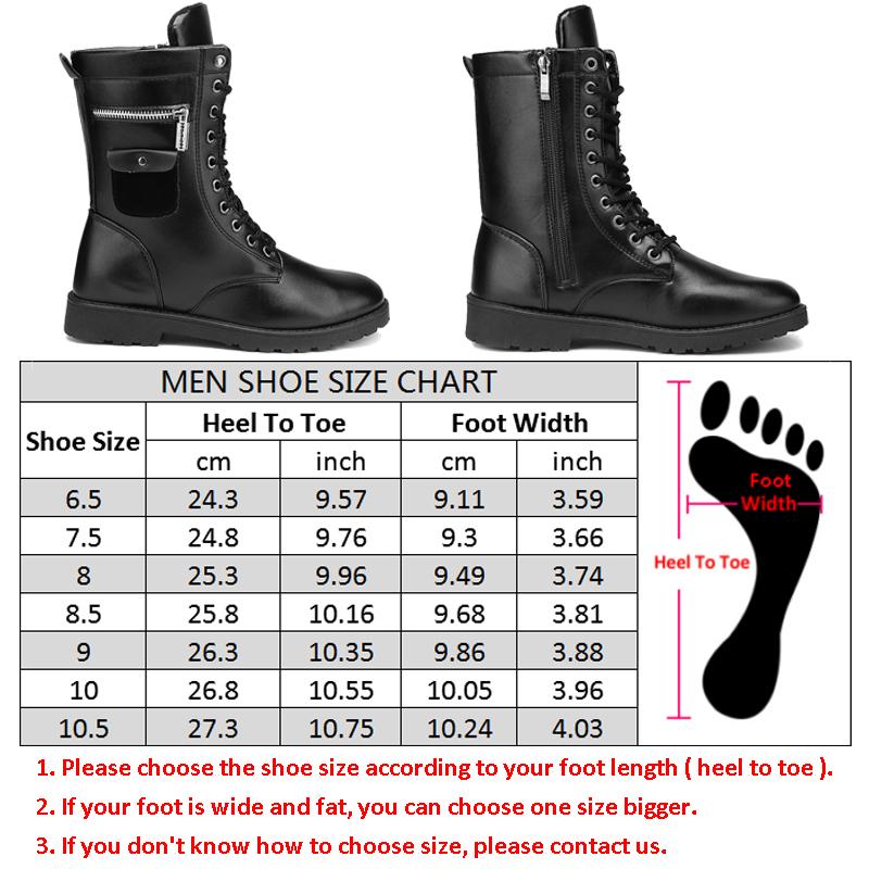 2bf880dabafc7 أحذية جلدية للدراجات النارية للرجال الشرير رصع زيبر التكتيكية ...