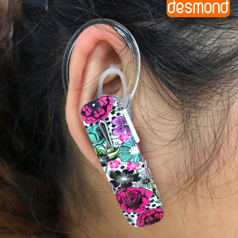 Desmond Mini Wireless bluetooth Earphone Flower Stereo Bass Headphone with Mic for iPhone Samsung