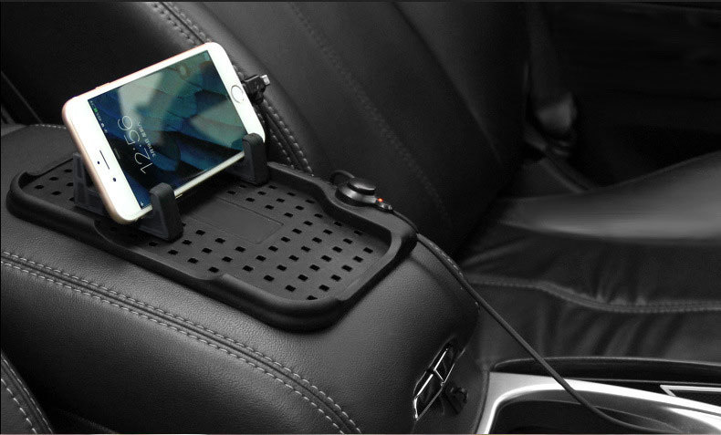 Non-Slip Car Micro USB 8Pin Charger Stand Dashboard Mount Holder for iPhone GPS Pad