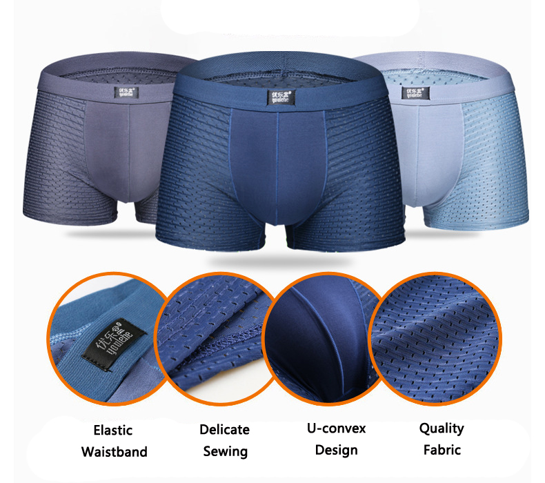 Breathable Honeycomb Mesh Soft Smooth Comfy Ice Silk Briefs