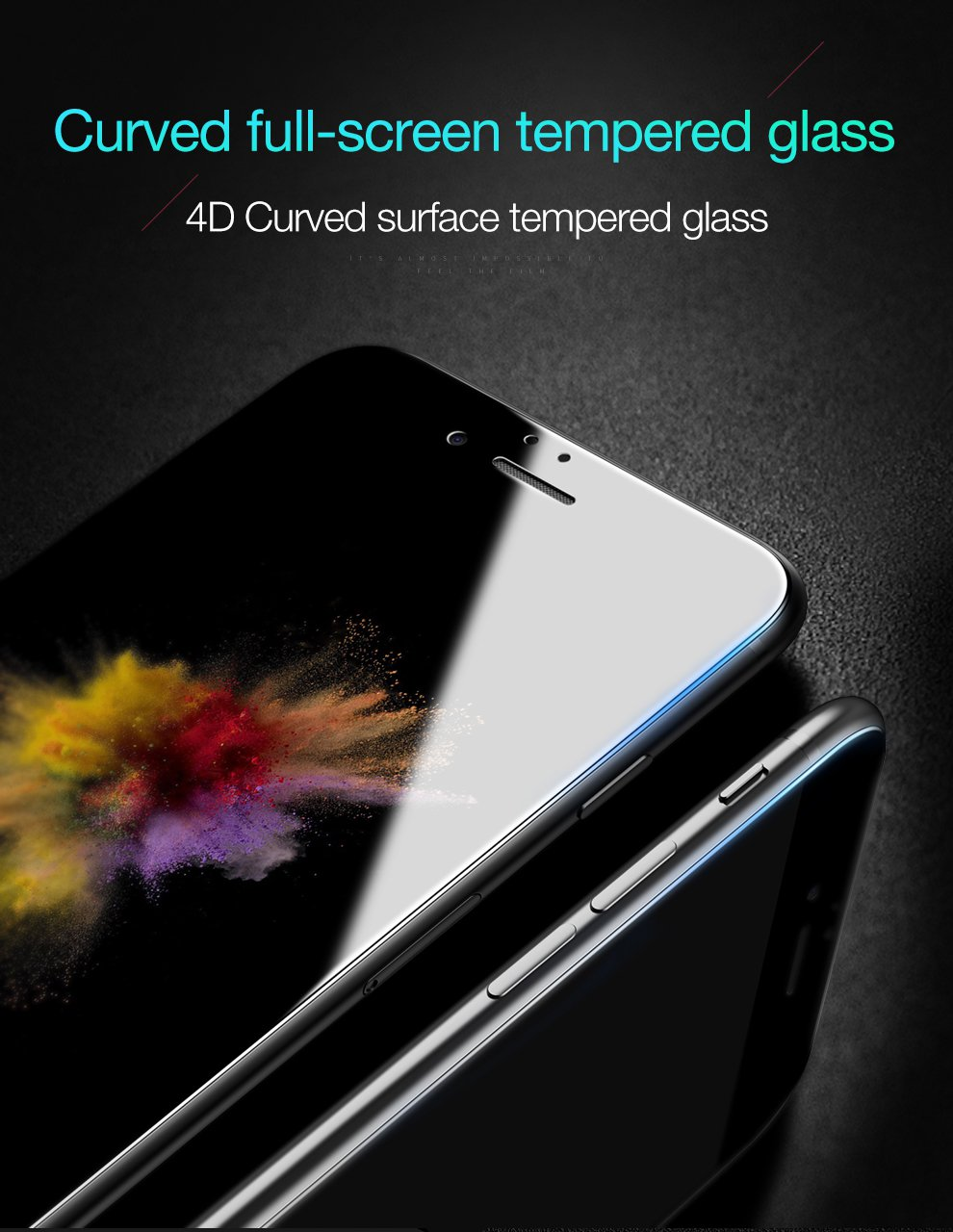 Bakeey 4D Curved Edge Cold Carving Tempered Glass Screen Protector For iPhone 7