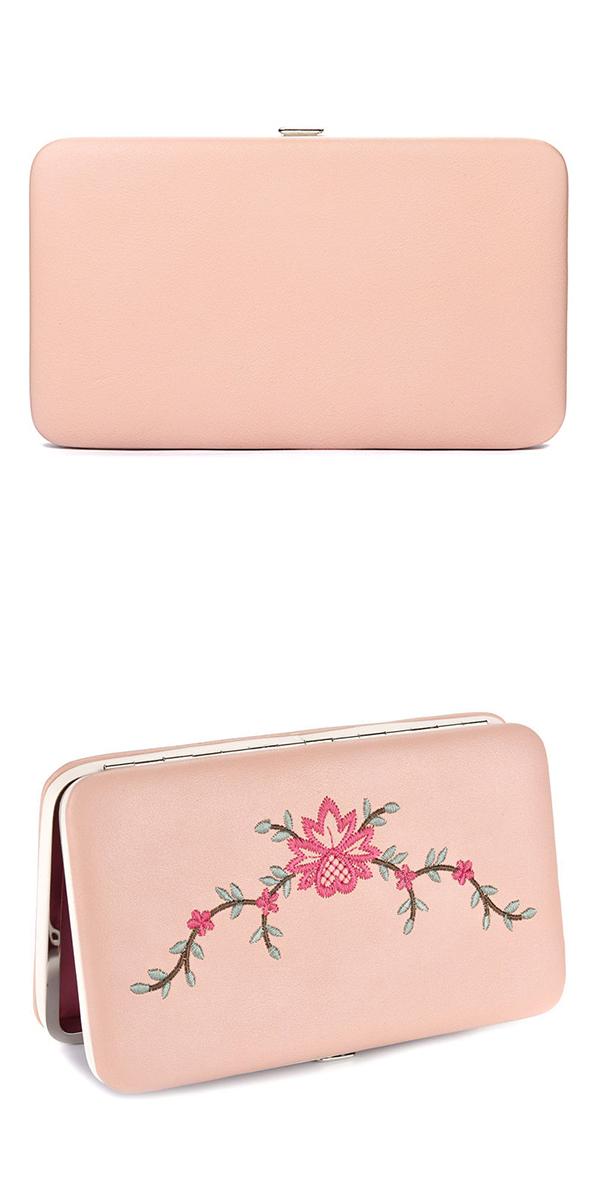 Women Vintage Embroidery Flower Wallet