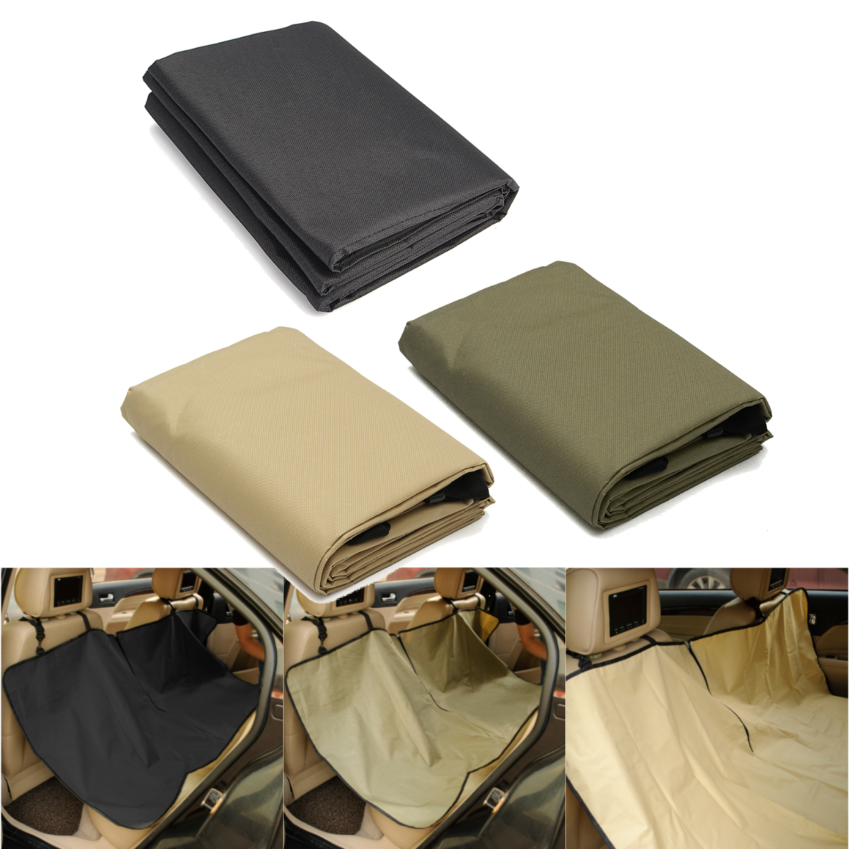 Waterproof Hammock Design Back Bench Car Seat Cover for