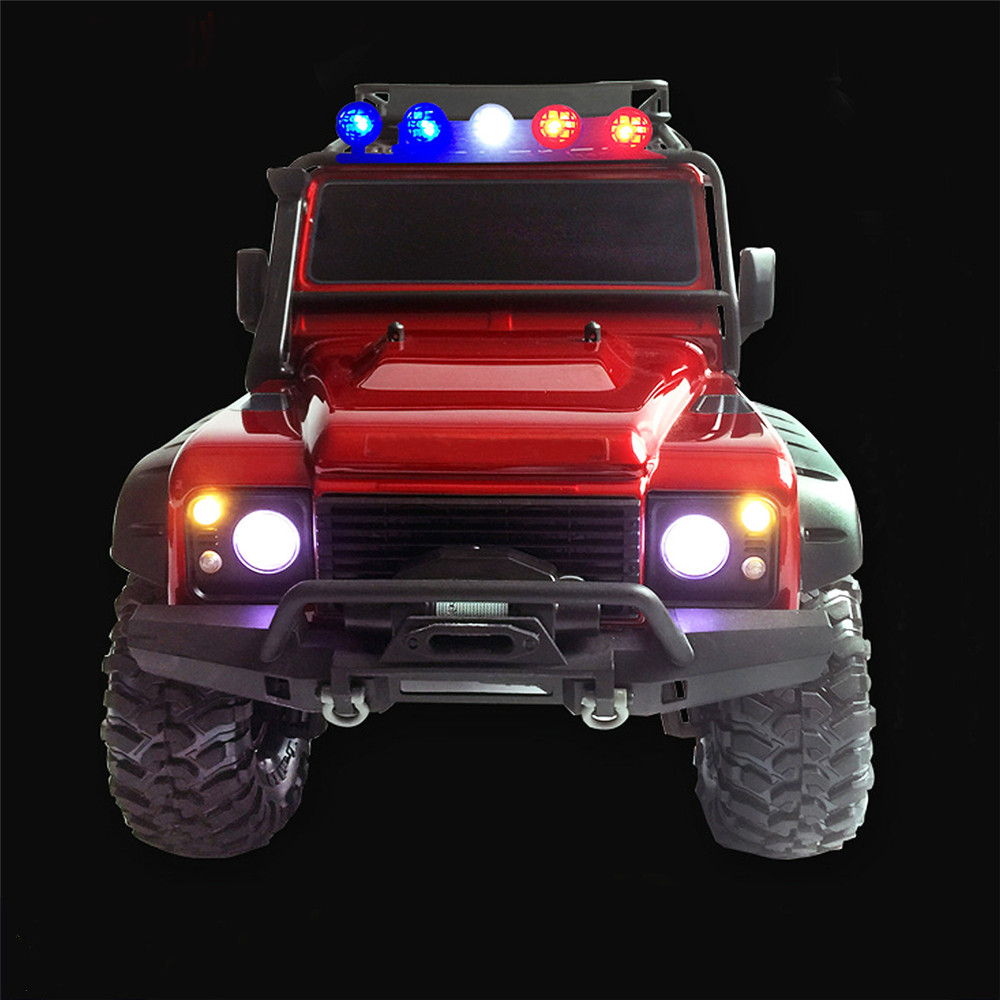 LED Front+Rear lights+IC Lamp Group+Police Light+Cable For TRAXXAS Trx4 RC Car Parts