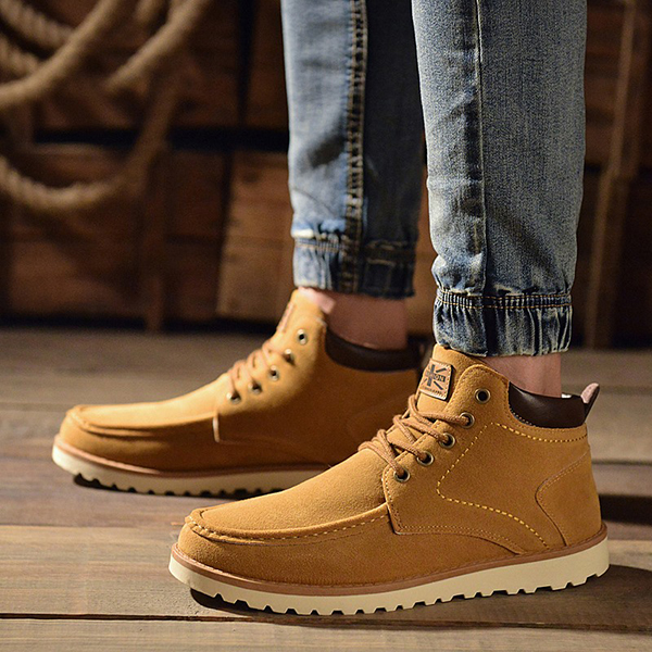 Men Comfortable Warm Soft Suede Leather Boots