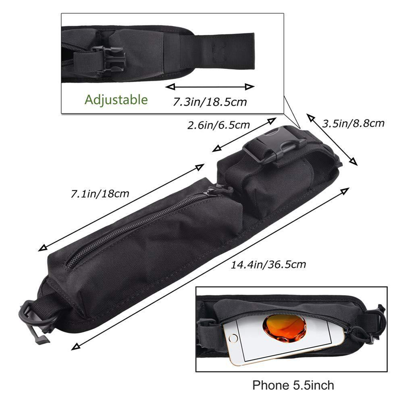 Outdoor Tactical Bag Hunting Shoulder Strap Sundries Bags Molle Pouch Accessory Flashlight Holster