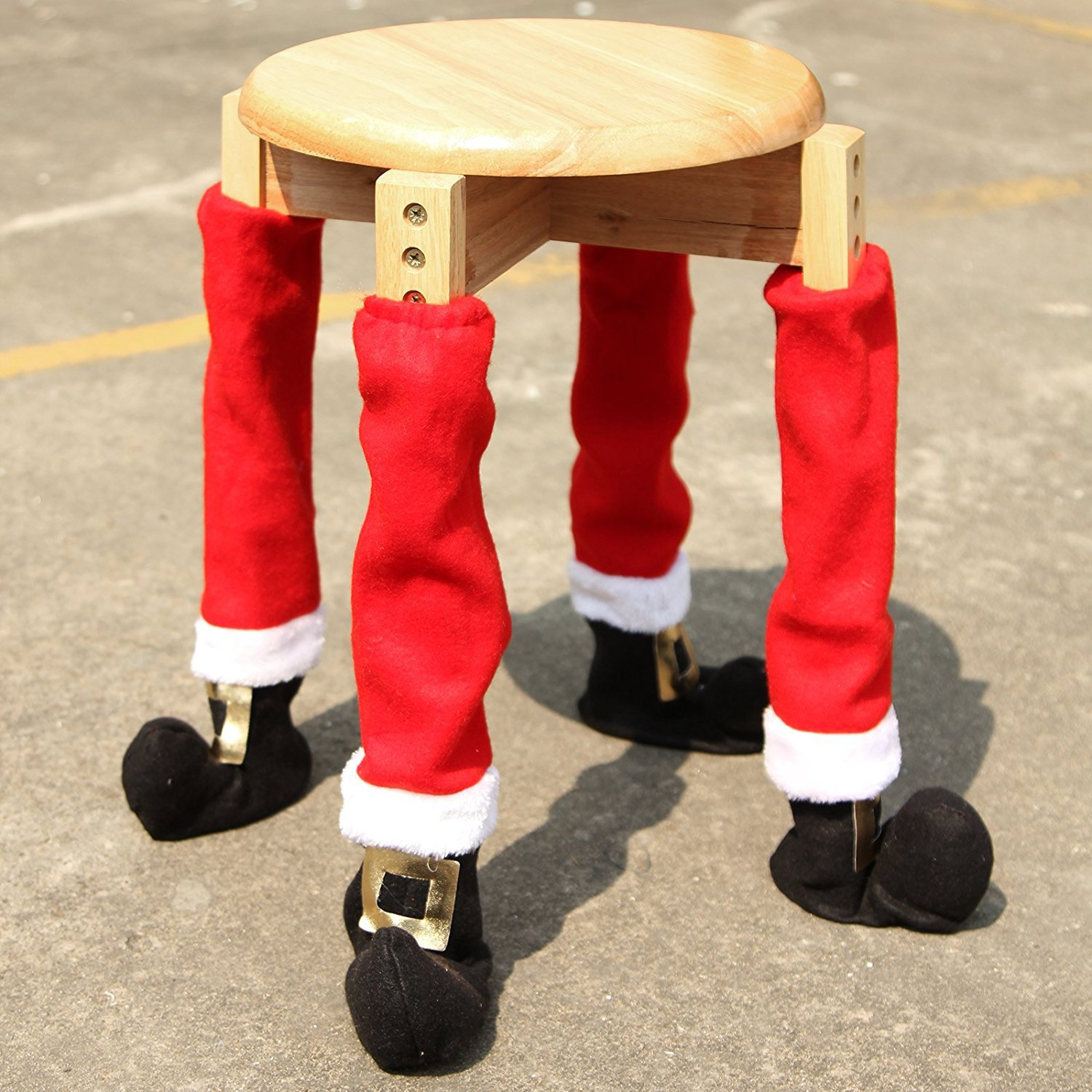 4Pcs Christmas Red Table Chair Legs Feet Sock Sleeve Cover Floor Protector Tables Leg Covers Party Home Decorations